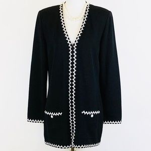 St. John Collection Marie Gray zip up tunic jacket